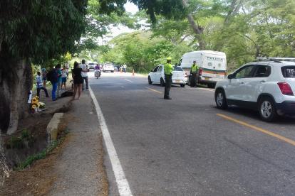 Vía donde ocurrió el accidente que acabó con la vida de Martín Elías.