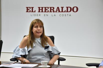 La presidenta de Colpensiones, Adriana Guzmán.