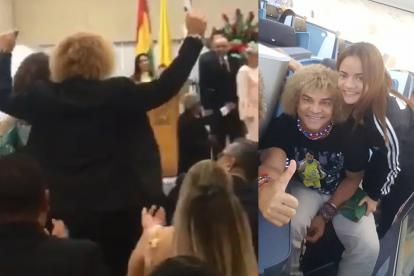 'El Pibe' celebrando el grado de su hija carla.