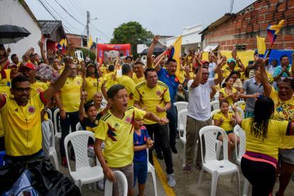 Así vivieron los porteños el momento en que Quintero marcó el gol del empate.