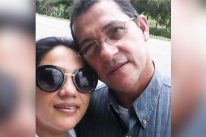 Ana Verónica Bedoya  y su esposo Argemiro Guevara.