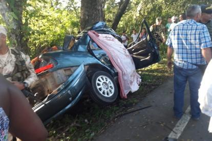 Así quedó el vehículo implicado en el accidente.