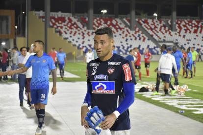 José Luis Chunga después de los duelos amistosos ante Unión Magdalena, en el estadio Romelio Martínez.