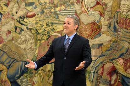 Iván Duque, en el palacio de La Zarzuela.
