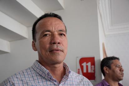 Nayib Ortega, líder comunal de Polonuevo, denunció amenazas en su contra.
