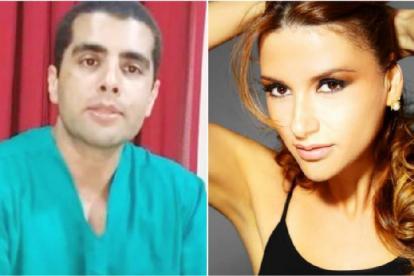 El cirujano Denis Furtado (i)  y Lilian Quezia Calixto (d), la paciente que falleció tras la cirugía estética.