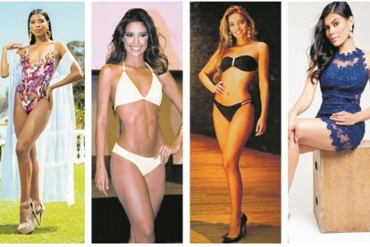 Miriam Carranza, Atlántico; Nathalia Blanco, Cartagena; Jennifer Salazar, Cesar; Maryam Montenegro, Guajira.