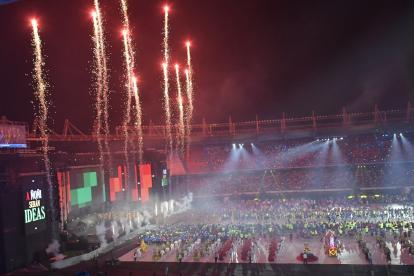 Panorámica de la ceremonia de clausura de los Juegos Centroamericanos y del Caribe Barranquilla 2018.