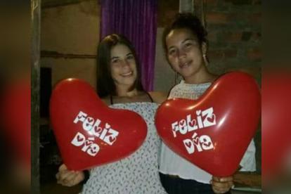 Las hermanas Duvis (izq.) y Angélica Rocha Delgado, dos de las cuatro víctimas.