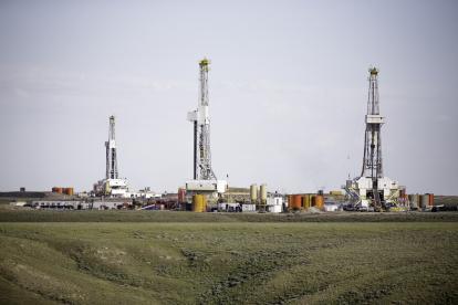 Equipos de fracturación hidráulica aplicada en Estados Unidos.