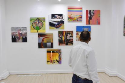 'Abstracto o abstraído', del artista plástico cubano Ángel Rivero, más conocido como 'Andy'.