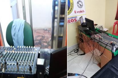 A las emisoras les fueron incautados los equipos electrónicos.