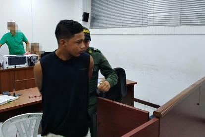 Jainer José Gutiérrez Tafur, de 20 años, durante la audiencia de ayer en el CSJ.