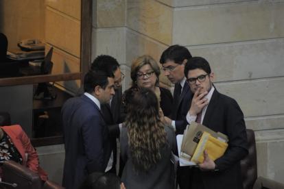 Ministra de Justicia, Gloria Borrero (c), en la Comisión Primera de la Cámara.
