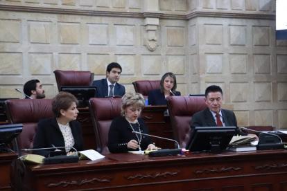 La discusión de este miércoles en la Comisión Primera de la Cámara de Representantes.