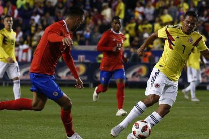 Carlos Bacca anotó el tanto que abrió el camino del triunfo ante Costa Rica.