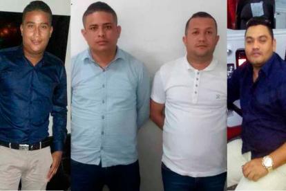 Romario Zúñiga, Yosimar Pacheco, Reynaldo Torres y Leonardo De la Espriella, capturados.