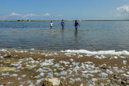 Panorama de la zona en la que anteriormente se explotaba sal en Galerazamba, corregimiento de Santa Catalina (Bolívar).