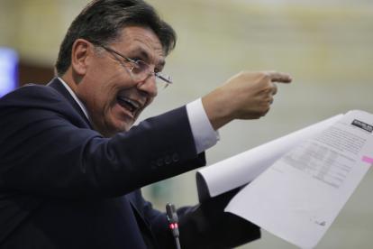 El fiscal Néstor Humberto Martínez durante el debate del martes en el Congreso.