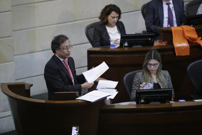 Gustavo Petro, senador y líder de Colombia Humana, en el Congreso.