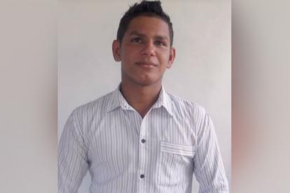 Diego Noriega Sánchez, de 22 años, víctima de un accidente de tránsito.