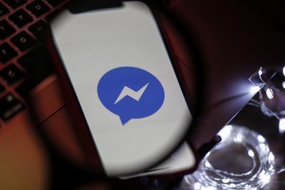 Logo de Messenger de Facebook.