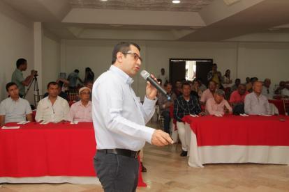 Fabio Araque De Ávila durante la presentación del nuevo accionista.