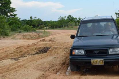 Tramo de la carretera Tablitas-San Marcos, en Sucre.