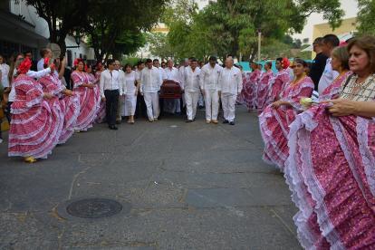 """Calle de honor a Cecilia """"La Polla"""" Monsalvo."""