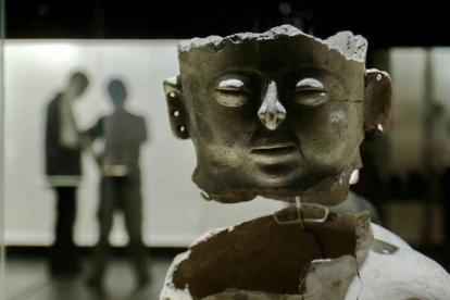 Vasija de la cultura Malibú con 800 años de antigüedad.
