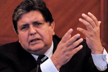 El expresidente peruano Alan García.
