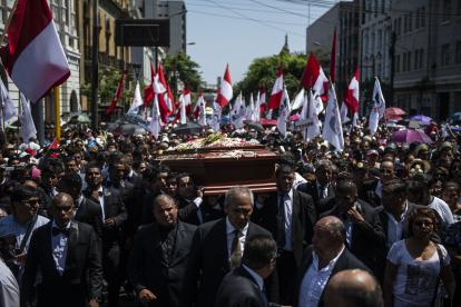 Funeral del expresidente peruano, en Lima.