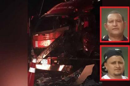 Hugo Vargas Zafra y su papá Hugo Vargas, las víctimas fatales del accidente.