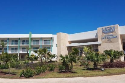 Fachada del hotel en Cuba.