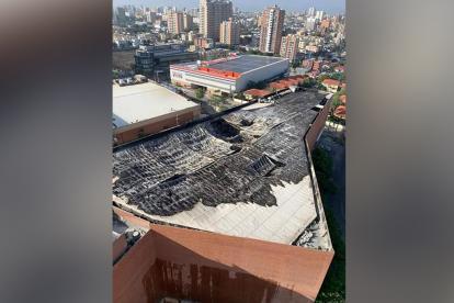 Estado en que quedó el techo del Buenavista II.