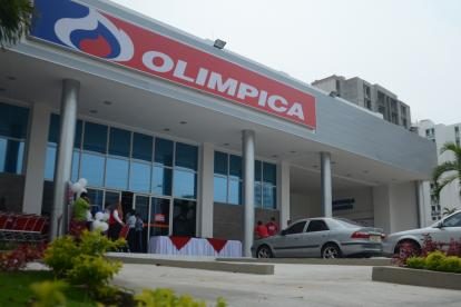 Supertienda Olímpica en el norte de Barranquilla.