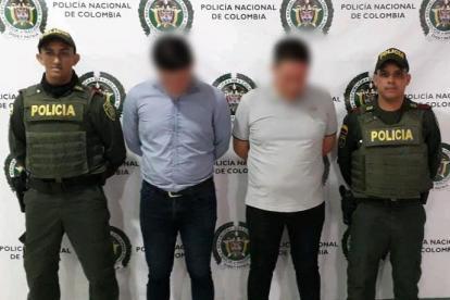 Dos hombres fueron capturados por unidades de la Policía Metropolitana de Montería.