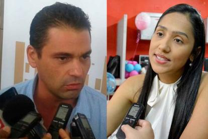 Alfredo 'Ape' Cuello y Claudia Margarita Zuleta.