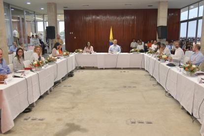 El presidente Duque se encuentra en Valledupar. Ayer sostuvo una reunión sobre economía naranja.