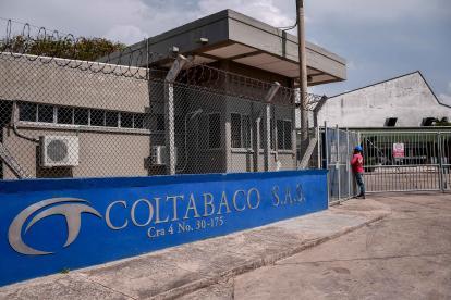 Fachada de la planta de procesamiento de Coltabaco ubicada en la calle 30 en Barranquilla.