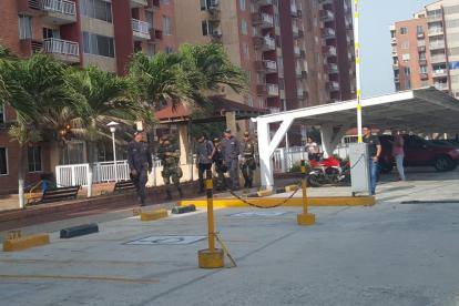 Detectives y soldados en el conjunto de Miramar.