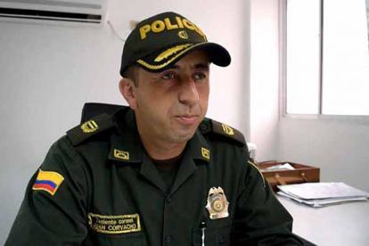 Comandante operativo de la Policía de Córdoba, teniente coronel Juan Pablo Corvacho Márquez.