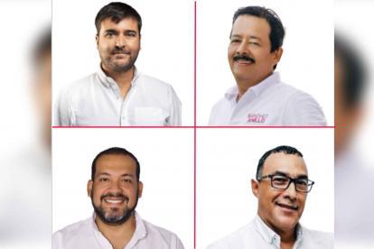 Jaime Pumarejo, Rafael Sánchez, Diógenes Rosero y Antonio Bohóquez.