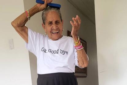 Julia Eva Moreno Martínez, conocida en las redes sociales como 'viejita, pero no pendejita'.