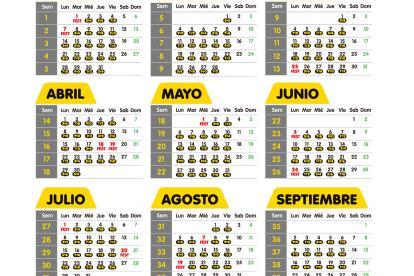 Calendario Agosto 2019 Numeros Grandes.Listo El Calendario Del Pico Y Placa Para 2019 El Heraldo