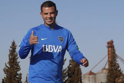 Edwin Cardona, mediocampista de Boca Juniors.