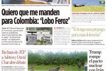 Quiero que me manden para Colombia: 'Lobo Feroz'