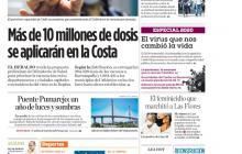 Más de 10 millones de dosis se aplicarán en la Costa