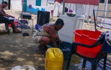 En estas condiciones viven los damnificados en el sur del departamento.