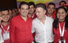 El presidente Santos estuvo este fin de semana en la convención liberal en Cartagena. Antes había estado en la de La U.
